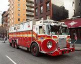 Amerikaanse brandweerauto plaatsing Luchthoorns