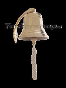 scheepsbel met muurbeugel en bellenkoord 17,5 diameter